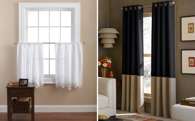 mainstays white lace kitchen curtains
