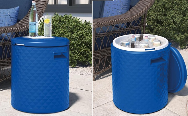 suncast 3 in 1 cooler side table just