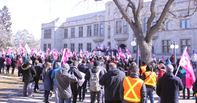 CUPE 1975 rally
