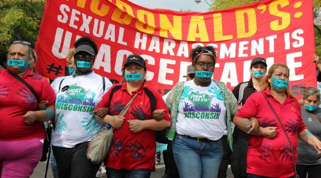 International union coalition demands action to combat sexual harassment at