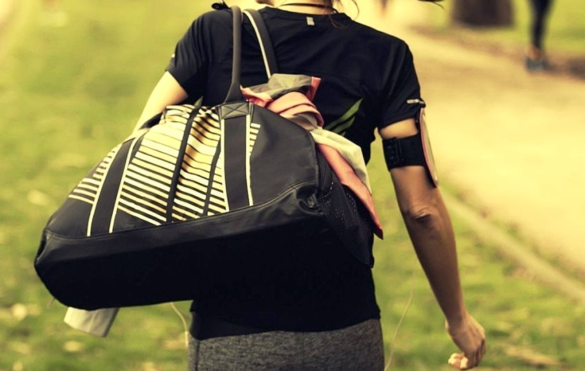 Women Carrying Gym Bag
