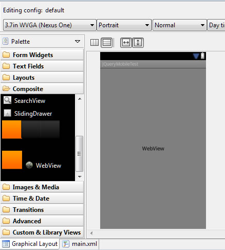 Adding WebView to layout