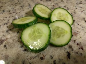 Dramatic angle of the infinite cucumber slice circle.