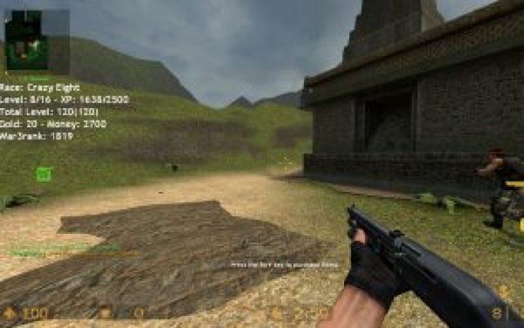 Screenshot of the War Source Mod in Counter-Strike: Source
