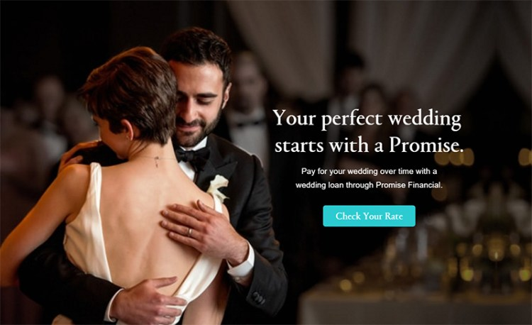 financing your wedding