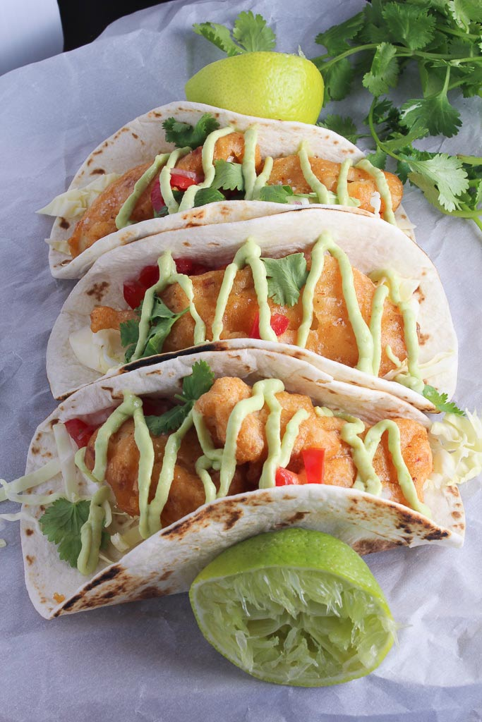 A super fresh take on a taco bar wedding for 1000 for Breaded fish tacos