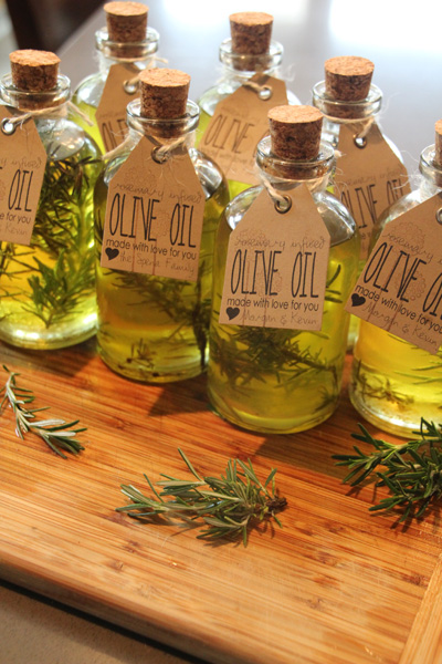 Infused Olive Oil - Delicious, DIY Wedding Guest Favors