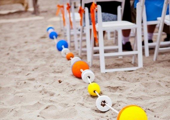 Beach Wedding Aisle Runner idea! weddingfor1000.com