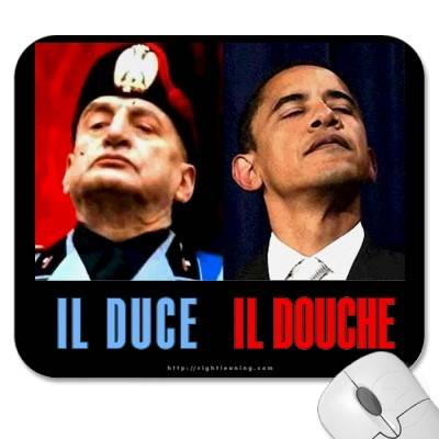 Image result for Obama seen as like Mussolini
