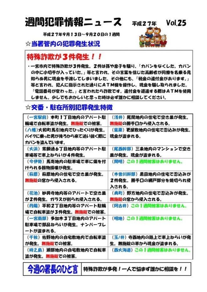 週間犯罪ニュース25