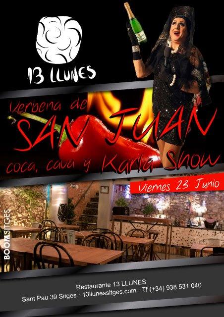 Verbena de San Juan en el 13 Llunes con Karla Show