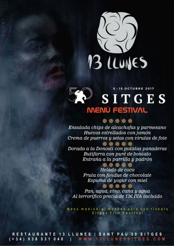 Menú 50 Festival Sitges