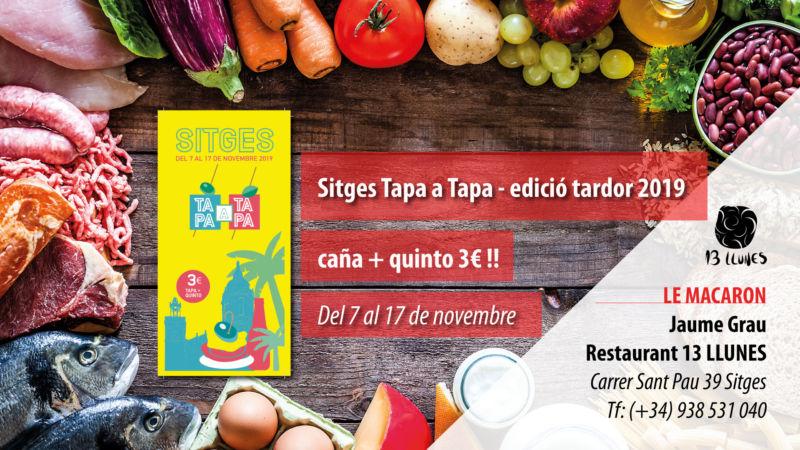 Sitges Tapa a Tapa edición otoño 2019
