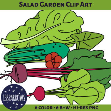 salad garden clip art tpt preview