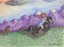 Logan Aurora on horses dreamWM