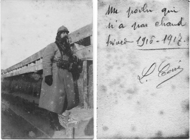 En plus l'hiver 1916—1917 est très rude : la neige tient du 5 janvier au 10 mars et la température tombe souvent à moins 20 degrés.