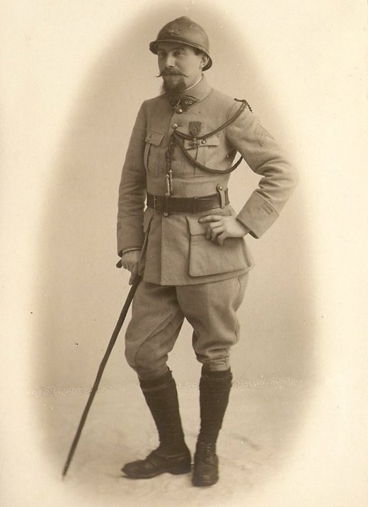 DENONCIN Maurice (1888-1986) Sous-Lieutenant, Lieutenant puis Capitaine au 46e puis au 246e Régiment d'Artillerie de Campagne