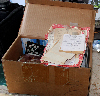 Notes in a box