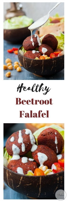 Beetroot Falafel - Traditional Middle Eastern Nutrient Rich,high protein patties made with chickpeas and spices