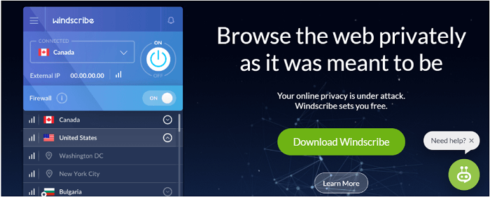 Windscribe-top-free-vpn