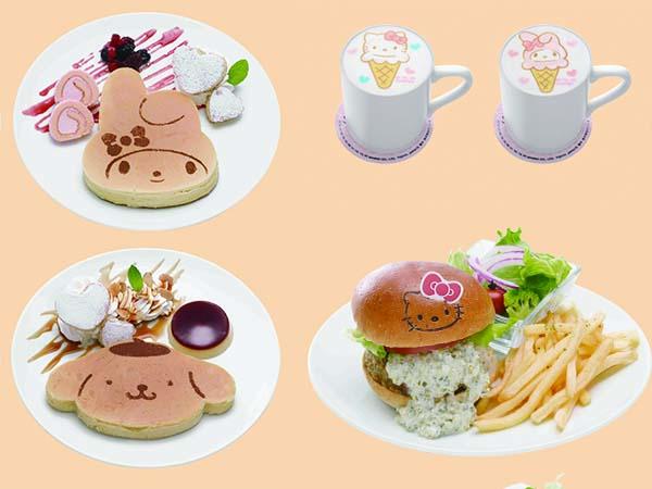 サンリオキャラのパンケーキやハンバーガー