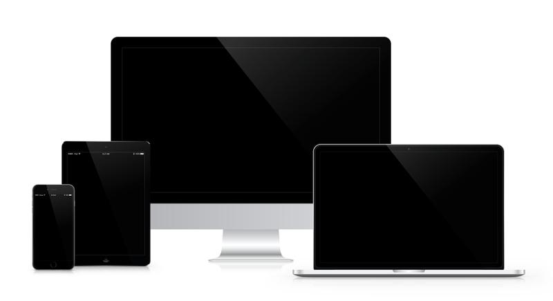 スマホやタブレット、PCの画面の写真