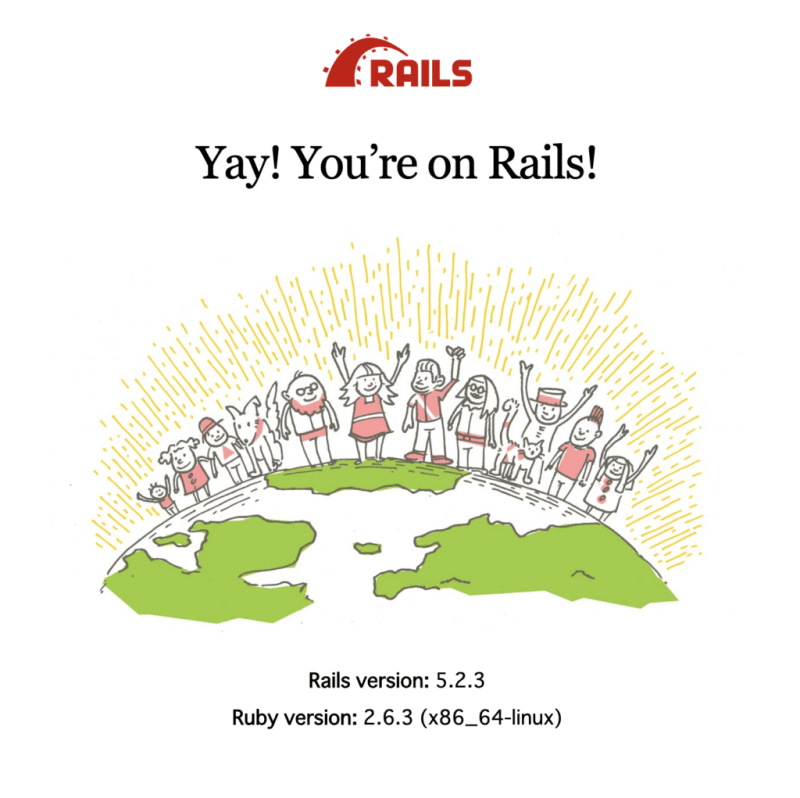 Yay! You're on Rails!