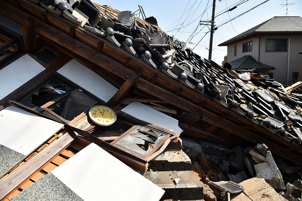 Earthquake Kills Nine And Rescue Work Continues In Japan