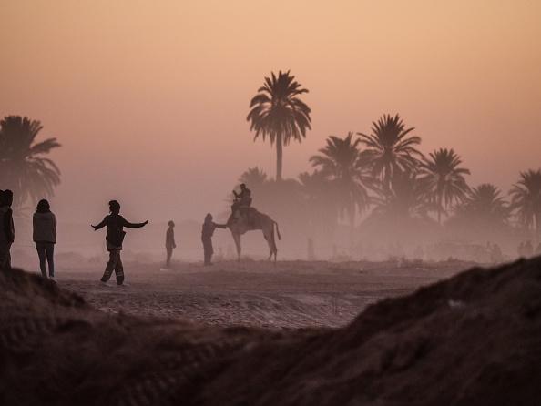 Dust in Sahara Desert