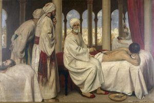 Albucasis_blistering_a_patient_in_the_hospital_at_Cordova._Wellcome_L0015000