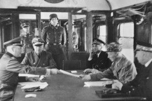 Compiegne 1940, Generaloberst Keitel überreicht die Waffenstillstandsbedingungen