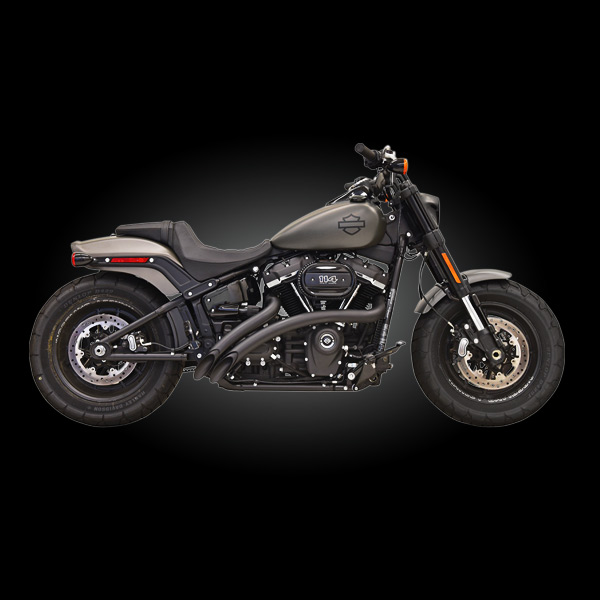 bassani exhaust 1s21fb black sweeper radius exhaust for 2018 newer harley m8 softail models
