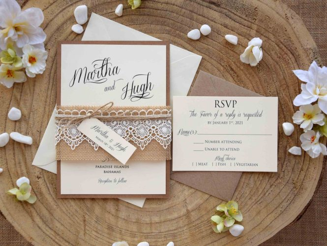 Rustic Wedding Invitations Archives