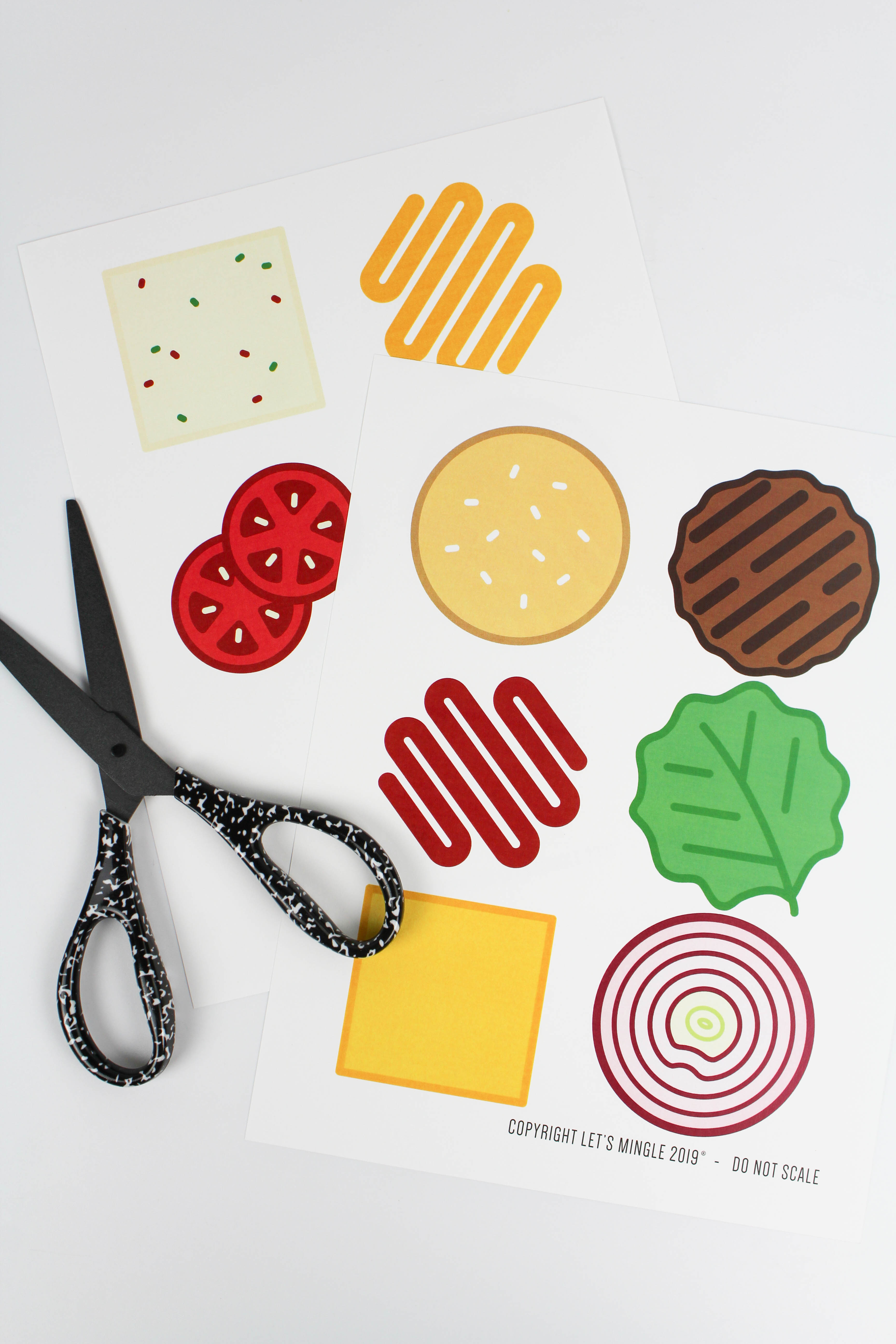 Printable Burger Party Garland