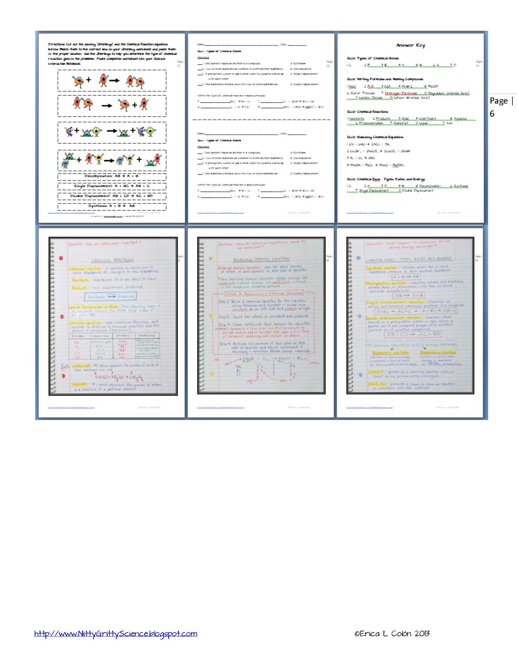 Balancing Equations Online Worksheet Answer Key