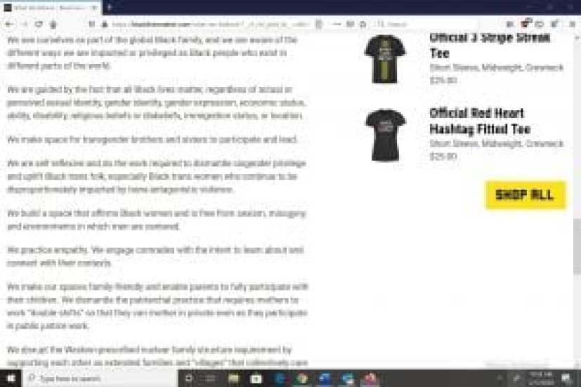 Black Lives Matter What We Believe section screenshot 4_July 17 2020_spectator.org