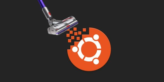 logotipo do Ubuntu sendo aspirado