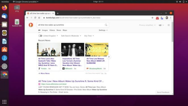 Google Chrome em execução no Ubuntu 20.04 LTS