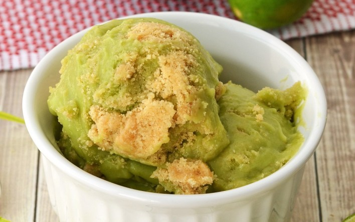 Key Lime Pie Avocado Ice Cream
