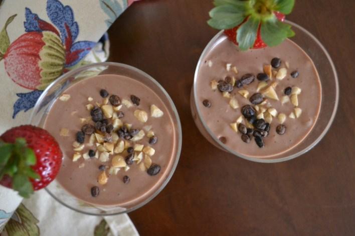 Peanut Milk, Banana and Cocoa Smoothie