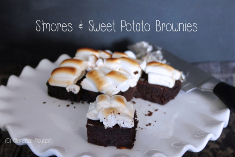 S'mores Sweet Potato Brownies