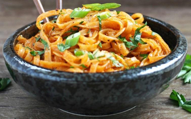 Vegan Coconut Curry Linguini