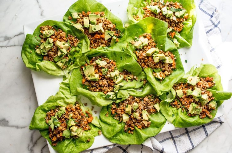 Green Goddess Mexican Lettuce Wraps