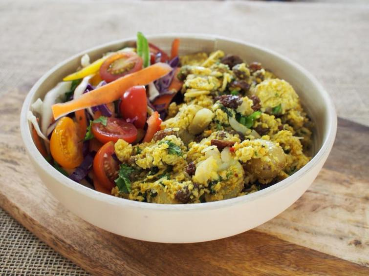 vegan coronation potato salad