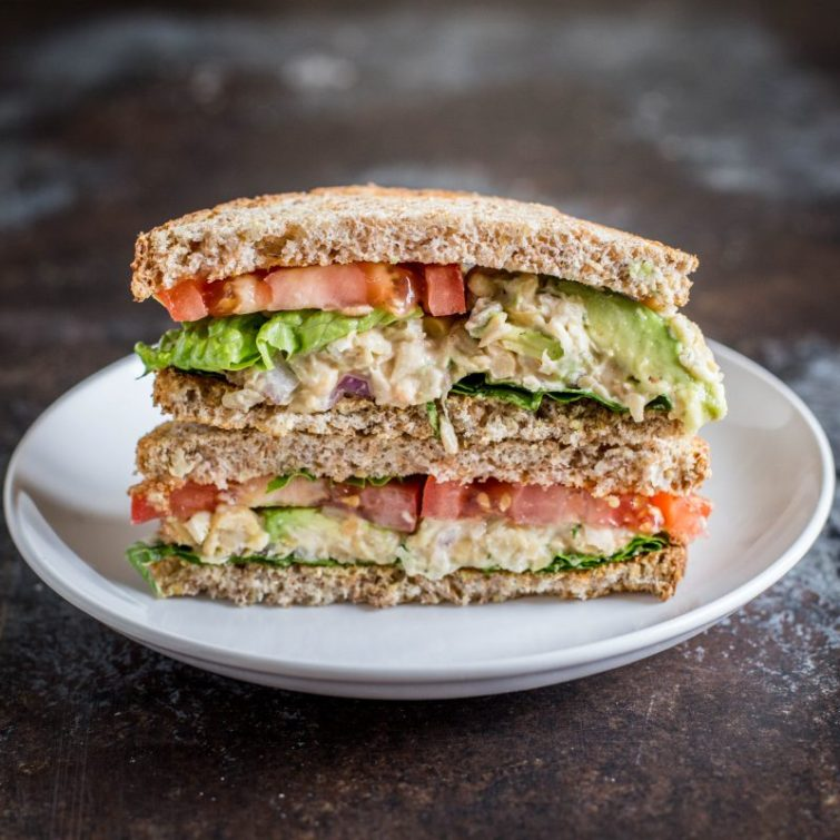 Creamy and Crunchy Chickpea Salad Sandwich