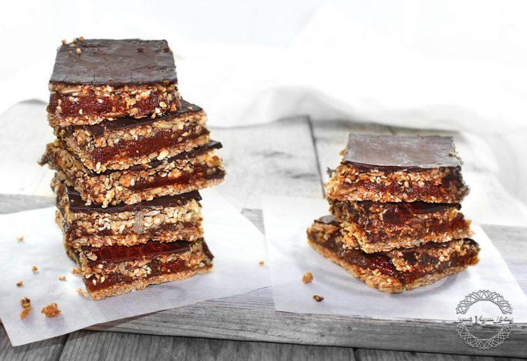 Vegan Rustic Caramel Squares
