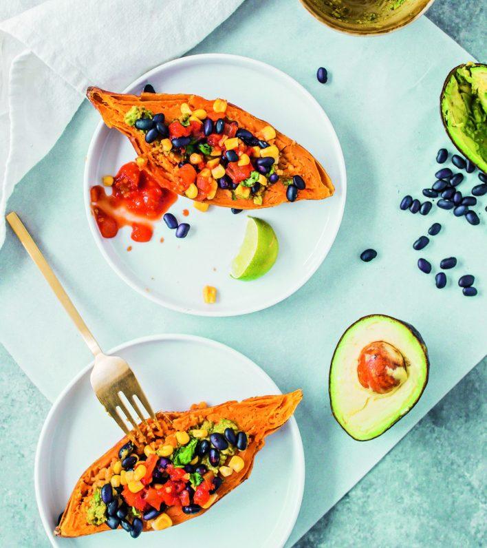 Vegan Sweet Potato Breakfast Boats