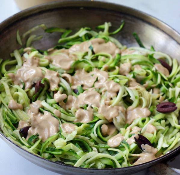 Vegan Mediterranean Zucchini Noodles
