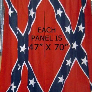 rebel flag 47x70 inch curtains one pair of confederate curtains