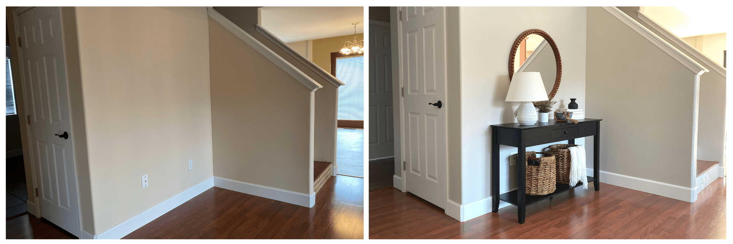 Hallway Before and After Home Staging